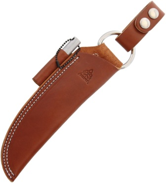 TPSHLBUSHBRN TOPS Bushcraft Knife Sheath Brown Leather