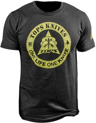 TPTS1LBLKLG TOPS T-Shirt One Life One Knife