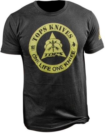 TPTS1LBLKM TOPS T-Shirt One Life One Knife