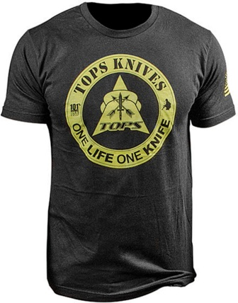 TPTS1LBLKXL TOPS T-Shirt One Life One Knife