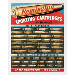 TSN1001 Tin Sign - Remington Sporting Cartridges