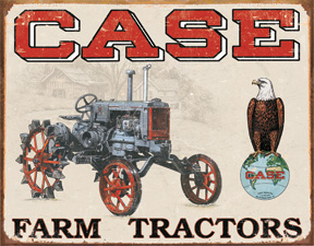 TSN1230 Tin Sign - Case Tractor - CC High