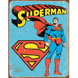 TSN1335 Tin Sign - Superman - Retro
