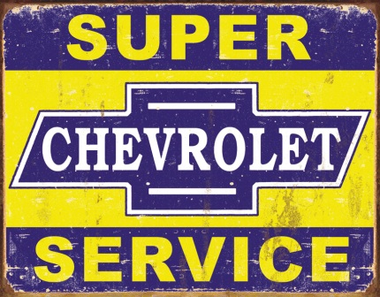 TSN1355 Tin Sign - Super Chevy Service