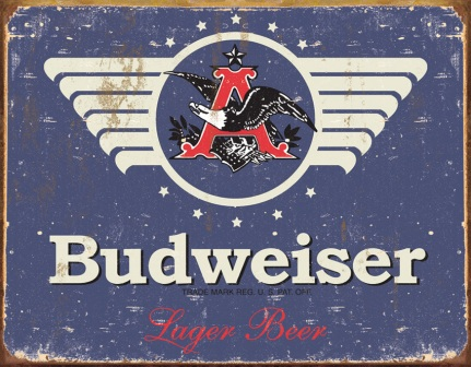TSN1383 Tin Sign - Budweiser 1936 Weathered