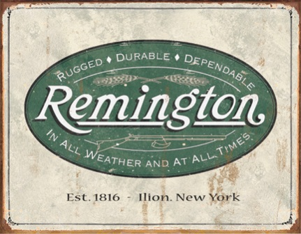 TSN1413 Tin Sign - Remington Weathered Logo