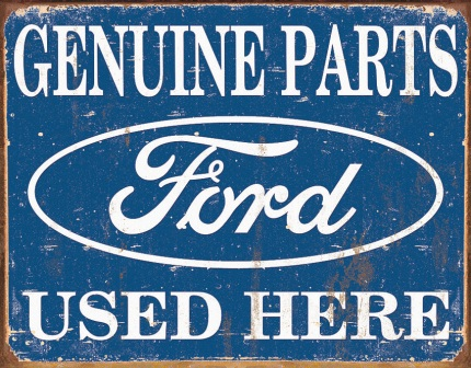 TSN1422 Tin Sign - Ford Parts Used Here