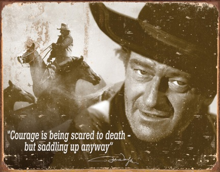 TSN1429 Tin Sign - John Wayne Courage