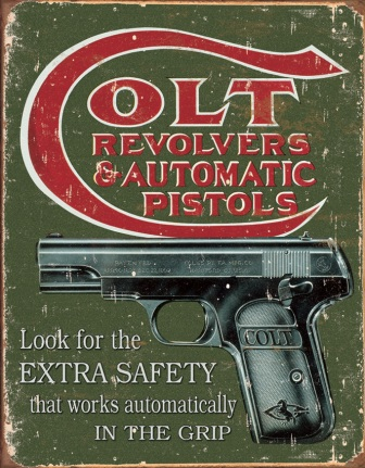 TSN1592 Tin Sign - Colt Extra Safety