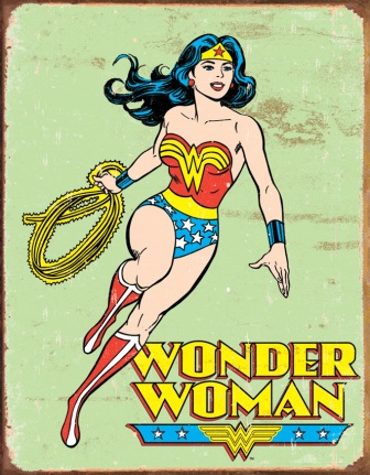 TSN1642 Tin Sign - Wonder Woman Retro