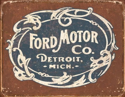 TSN1707 Tin Sign - Ford Historic Logo