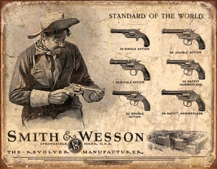 TSN1743 Tin Sign - Smith & Wesson Revolvers