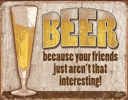 TSN1767 Tin Sign - Beer Your Friend
