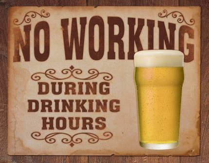 TSN1795 Tin Sign - No Working Drinking Hours