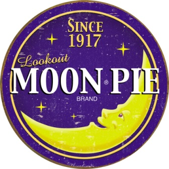 TSN1802 Tin Sign - Moon Pie Round Logo