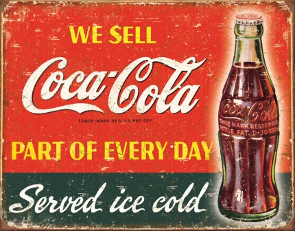 TSN1820 Tin Sign - Coca Cola Part of Every Day