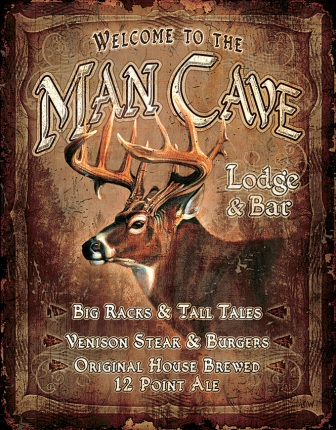 TSN1868 Tin Sign - Man Cave Lodge