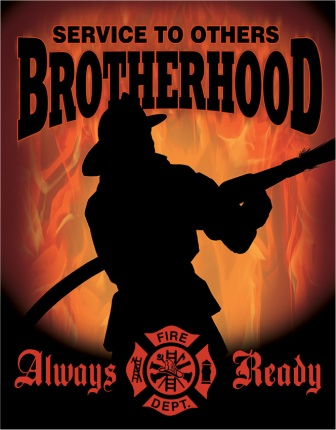 TSN1901 Tin Sign - Fireman Brotherhood