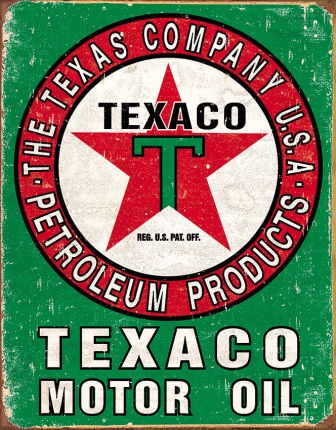 TSN1927 Tin Sign - Texaco Motor Oil