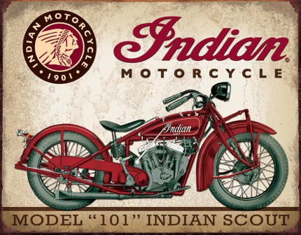 TSN1933 Tin Sign - Indian Scout Motorcycle