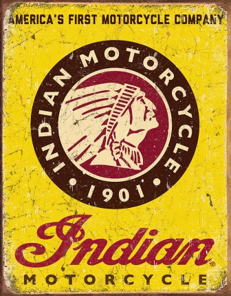 TSN1934 Tin Sign - Indian Since 1901