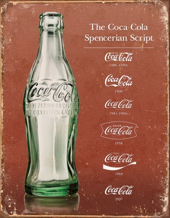 TSN1952 Tin Sign - Coke Script Heritage