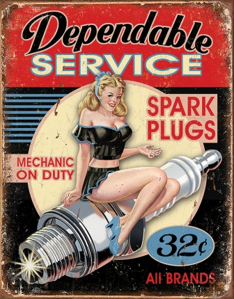 TSN1991 Tin Signs Dependable Service Sign