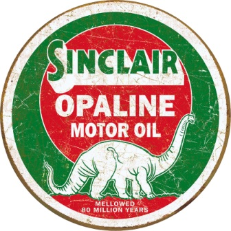 TSN2047 Tin Sign - Sinclair Opaline Round