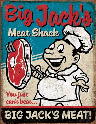 TSN2122 Tin Signs Big Jacks Meats Sign