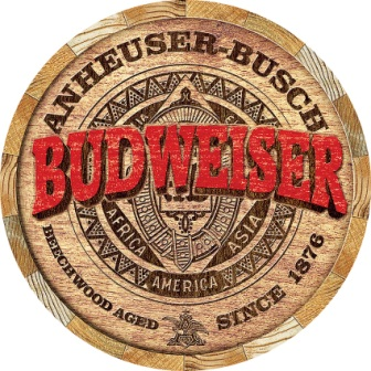 TSN2165 Tin Sign - Budweiser Barrel End