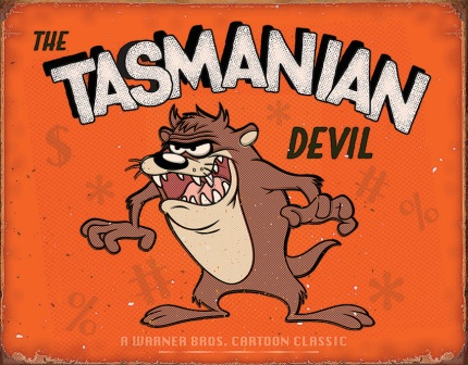 TSN2180 Tin Sign - Tasmanian Devil