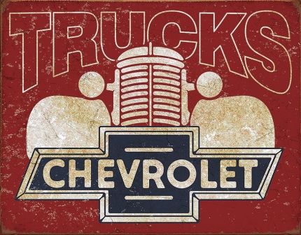 TSN2197 Tin Signs Chevy Trucks