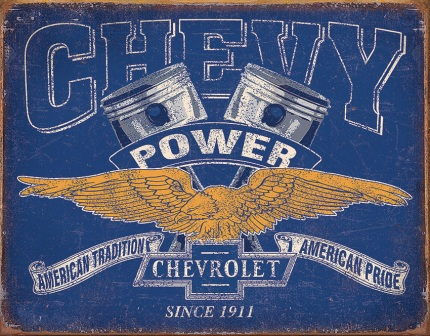 TSN2199 Tin Signs Chevy Power