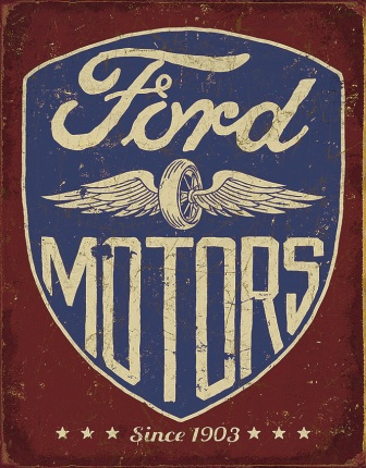 TSN2205 Tin Signs Ford Motors Since 1903