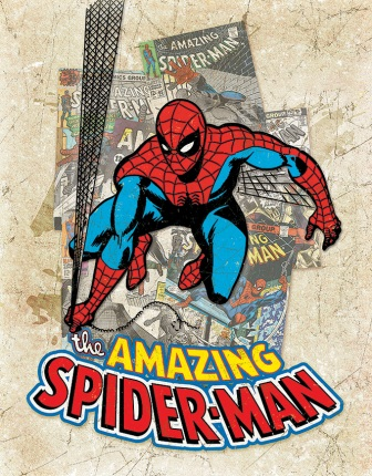 TSN2210 Tin Signs Spider Man Cover Splash