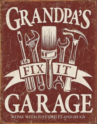 TSN2264 Tin Signs Grandpas Garage Sign