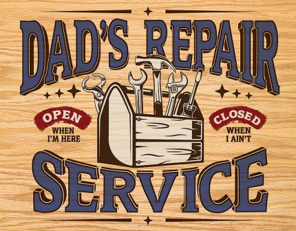 TSN2268 Tin Signs Dad's Repair Service Sign