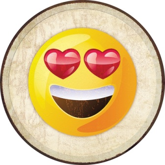 TSN2272 Tin Signs Emoji Love Eyes Sign