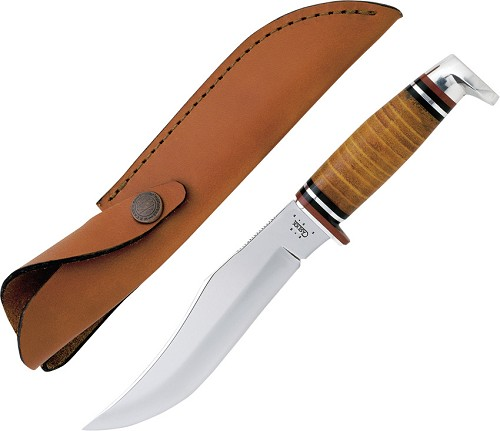 CA386 Case Cutlery Hunter Knife Polished Leather Handle
