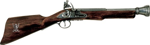 DX1094G Denix 18th Century Pirate Boarding Flintlock Blunderbuss Replica