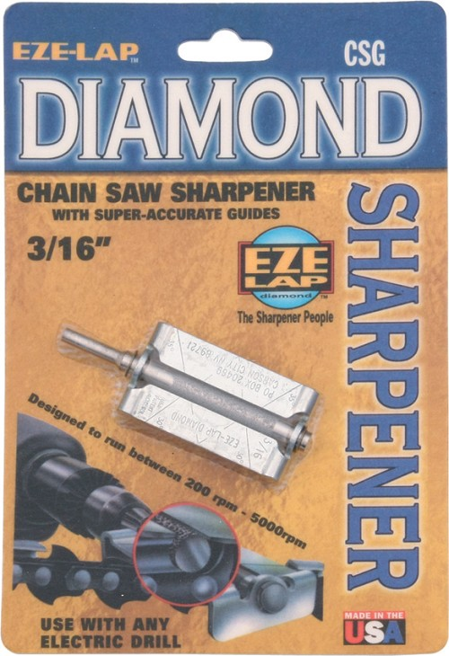 EZLCSG316 Eze-Lap Diamond Chain Saw File Sharpener