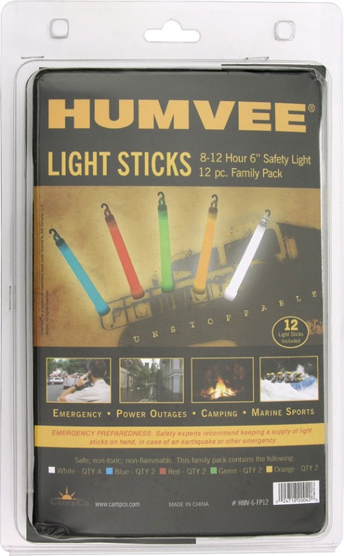 HMV6FP12 Humvee 12 Piece Family Pack Safety Light Sticks