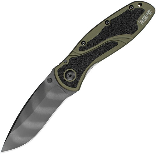 KS1670OLTS Kershaw Blur Linerlock Pocket Knife A/O Tiger Stripe Olive