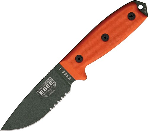 RC3SOD Esee Model 3 Knife Partially Serrated