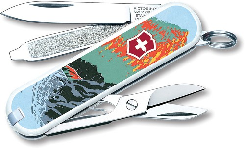 Vn55481 Victorinox Classic Pocket Knife Great Smoky Mountains