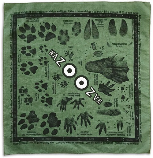 WSG007 Wazoo Survival Gear Bandana - Tracking Field Kit